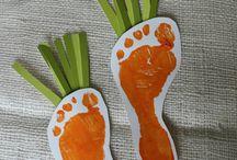 Fuß-, Hand- u. Fingerabdrücke