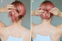 Cheveux roses