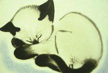 Котэ - хочу нарисовать / прикольные котэ - обязательно нарисую / by Ольга Комарова