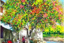 Pinturas do vietnamita Lam Duc Manh