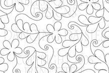 Frihåndsquilting, mønster