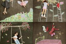 chalk art photos
