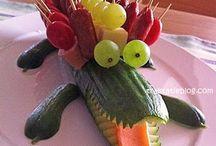 idee carine con frutta e verdura