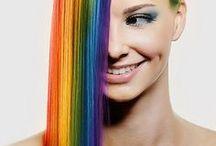 χτενησματα χρωματιστά