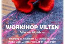 creaworkshops / In Koffie Met worden regelmatig creatieve workshops georganiseerd. Meedoen? Kijk op www.koffie-met.nl voor actuele data.