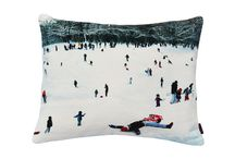 Christmas Cushions - Snow Scenes / Classic Christmas cushion designs for Christmas. Beautiful snow scenes with wildlife.