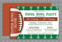 Super Bowl Invitations Templates and More / DIY Microsoft Word invitation templates for Super Bowl parties.