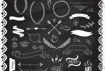 Chalkboard ideas.  / by Maci Rucker