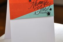 cards - thank you / by Kathy Katsmtk