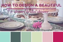 """Showerbelle""-Host a Happy Bridal Shower / How to design a beautiful dessert bridal shower.  http://www.showerbelle.com/"