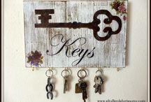 porta llaves y percheros