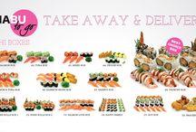 SHABU TO GO SUSHI MENU / SHABU TO GO sushi menu.
