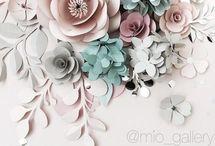 papír virág ötletek
