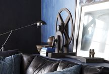 RLH: Modern Blue / Indigo is a color that knows no borders and has many different moods. Here, find inspiration for House Beautiful's Downtown Modern space celebrating Ralph Lauren Paint's deepest blues in the September 2014 issue.