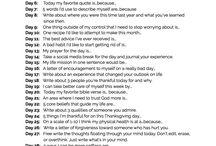 Writing list journal