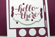 Hello There Stampin' Up! Stamp Set Greeting Cards