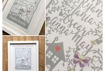 Personalised Prints / Beautiful personalised prints by Pickleloolly. www.etsy.com/shop/pickleloolly