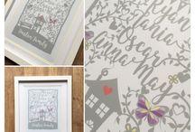 Personalised Prints / Beautiful personalised prints by Pickleloolly. www.etsy.com/shop/pickleloolly