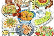 Japanese food infographic