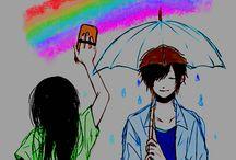 Anime Couple Graphic. {Ťǿukò Ŵħîtè Graphic ◕‿ ◕ ❤} / Qui troverete le immagini di coppie anime, modificate. :3