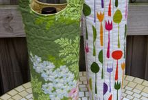 Quilted wine bag