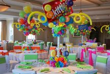 Kids party centerpieces and ideas tables ect...