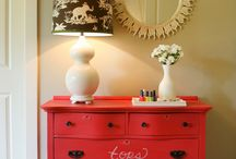 red dresser / by Heather Dabe