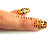 Decoración de uñas / Diseños fáciles y bonitos para uñas cortas y largas.DIY