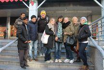 Navidad-cursos-español-Paraninfo-Madrid / La Academia Paraninfo, de Madrid, celebra la Navidad con una visita y actividad especial. Los alumnos de los cursos de español para extranjeros visitan los lugares más emblemáticos de Madrid en Navidad.
