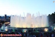 Magiczna Fontanna / Ogromna fontanna znajduje się pomiędzy Pałacem Narodowym a Plaça d'Espanya. W letnie wieczory odbywają się tu pokazy z udziałem światła, dźwięku i wody. Przyciągają one zarówno turystów jak i miejscowych.