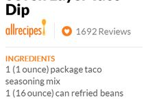 Recipes - apps and group snacks