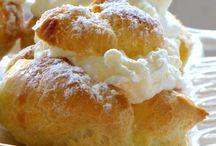 Delicious cream puffs