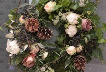 Door Wreaths / Welcome to our wedding/ christmas
