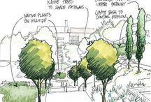 stromy, auta, postavy - ARCHITEKTURA