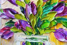 pintura con textura