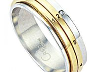 Stainless Steel Rings / An elegant collection of stainless steel rings.