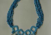 biżuteria szydełkowa / biżuteria wykonana na szydełku