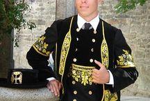 Bretagne : costumes d'Elliant - Melenig