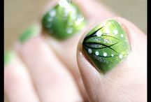 Feet nail art