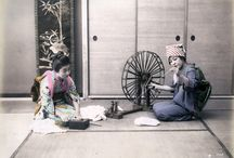 Hand coloured photographs of 19th-century Japan