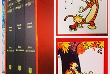 The most wanted! / The complete Calvin and Hobbes collection split into 3 hardback books with a semi leather cover! Stunning!