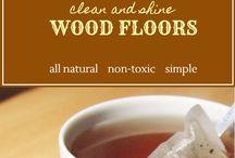 wooden floor shine