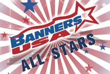 2013 All Stars Banner Ideas from Banners USA / A sampling of All Stars Banners from our renowned Banner Builder