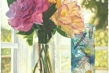 Watercolor:  Still Life / Floral 3 / Still life flowers in watercolor / by Junell Toney
