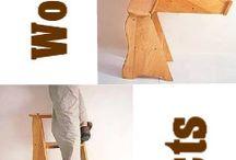 Bord og stole og  stige