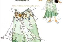 Disney Productions and Fairy Tale Characters ,Paper Dolls / Dolls to cut out