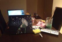 My acrylics