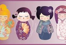 Kokeshi y muñecas japonesas / by Mitchan Inouye