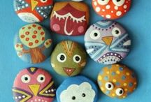 Ladybug Stones Rock Painting