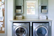 Laundry room idead / by Emily Householder